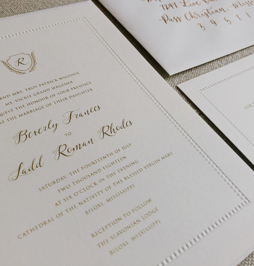 Photo of Forrest Paper invitation